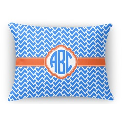 Zigzag Rectangular Throw Pillow (Personalized)