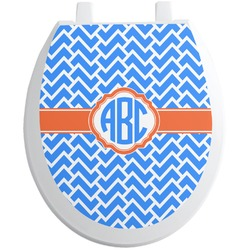 Zigzag Toilet Seat Decal (Personalized)