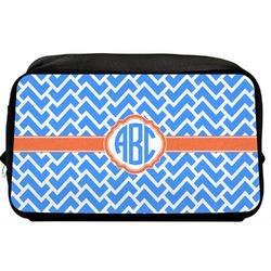 Zigzag Toiletry Bag / Dopp Kit (Personalized)