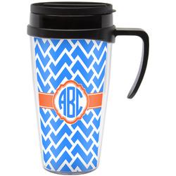 Zigzag Travel Mug with Handle (Personalized)