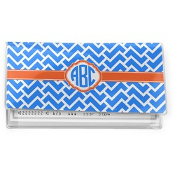 Zigzag Vinyl Checkbook Cover (Personalized)