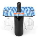 Zigzag Wine Bottle & Glass Holder (Personalized)
