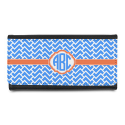 Zigzag Leatherette Ladies Wallet (Personalized)