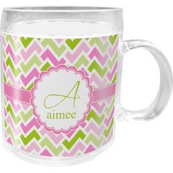 Pink & Green Geometric Acrylic Kids Mug (Personalized)
