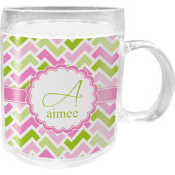 Pink & Green Geometric Acrylic Kids Mug (Personalized)