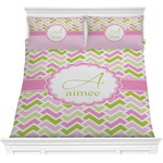 Pink & Green Geometric Comforters (Personalized)