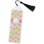 Pink & Green Geometric Book Mark w/Tassel (Personalized)