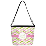 Pink & Green Geometric Bucket Bag w/ Genuine Leather Trim (Personalized)