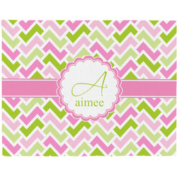 Pink & Green Geometric Placemat (Fabric) (Personalized)