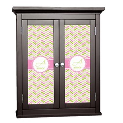 Pink & Green Geometric Cabinet Decal - XLarge (Personalized)