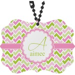 Pink & Green Geometric Rear View Mirror Charm (Personalized)