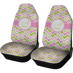 Pink & Green Geometric Car Seat Covers (Set of Two) (Personalized)