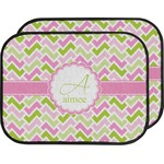 Pink & Green Geometric Car Floor Mats (Back Seat) (Personalized)