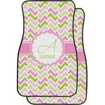 Pink & Green Geometric Car Floor Mats (Front Seat) (Personalized)