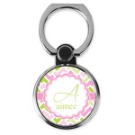 Pink & Green Geometric Cell Phone Ring Stand & Holder (Personalized)