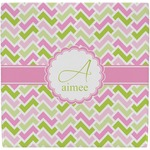 Pink & Green Geometric Ceramic Tile Hot Pad (Personalized)