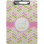 Pink & Green Geometric Clipboard (Personalized)