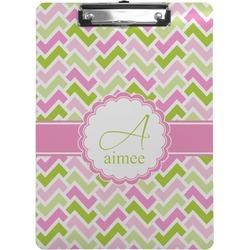 Pink & Green Geometric Clipboard (Personalized)
