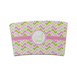 Pink & Green Geometric Coffee Cup Sleeve (Personalized)