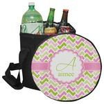Pink & Green Geometric Collapsible Cooler & Seat (Personalized)