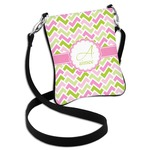 Pink & Green Geometric Cross Body Bag - 2 Sizes (Personalized)