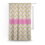 Pink & Green Geometric Curtain (Personalized)