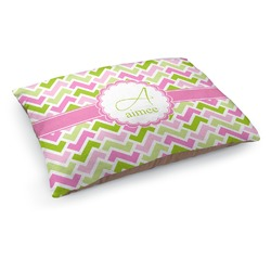 Pink & Green Geometric Dog Pillow Bed (Personalized)