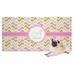 Pink & Green Geometric Pet Towel (Personalized)
