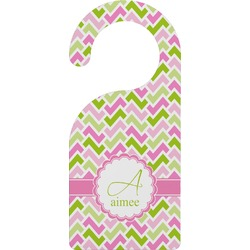 Pink & Green Geometric Door Hanger (Personalized)