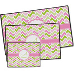 Pink & Green Geometric Door Mat (Personalized)