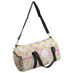 Pink & Green Geometric Duffel Bag (Personalized)