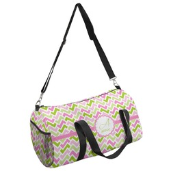Pink & Green Geometric Duffel Bag - Multiple Sizes (Personalized)