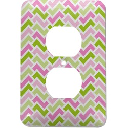 Pink & Green Geometric Electric Outlet Plate (Personalized)