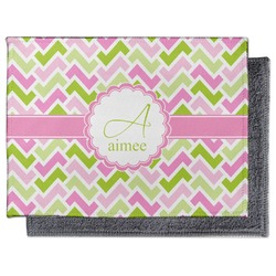 Pink & Green Geometric Microfiber Screen Cleaner (Personalized)