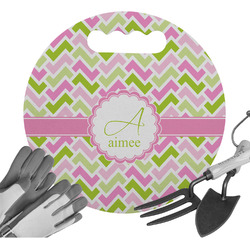 Pink & Green Geometric Gardening Knee Cushion (Personalized)