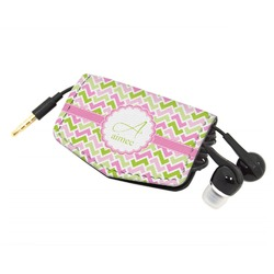 Pink & Green Geometric Genuine Leather Cord Wrap (Personalized)