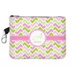 Pink & Green Geometric Golf Accessories Bag (Personalized)