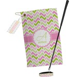 Pink & Green Geometric Golf Towel Gift Set (Personalized)