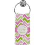 Pink & Green Geometric Hand Towel - Full Print (Personalized)