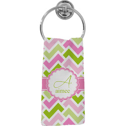 Pink & Green Geometric Hand Towel - Full Print (Personalized)