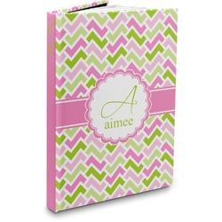 Pink & Green Geometric Hardbound Journal (Personalized)