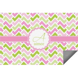 Pink & Green Geometric Indoor / Outdoor Rug - 8'x10' (Personalized)