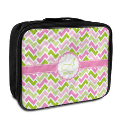 Pink & Green Geometric Insulated Lunch Bag (Personalized)