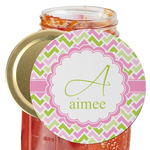 Pink & Green Geometric Jar Opener (Personalized)