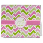 Pink & Green Geometric Kitchen Towel - Full Print (Personalized)