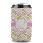 Pink & Green Geometric Can Sleeve (12 oz) (Personalized)