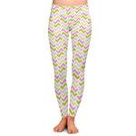 Pink & Green Geometric Ladies Leggings (Personalized)