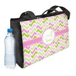 Pink & Green Geometric Ladies Workout Bag (Personalized)