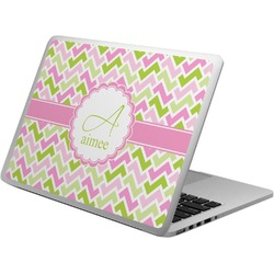 Pink & Green Geometric Laptop Skin - Custom Sized (Personalized)