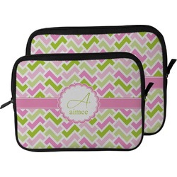Pink & Green Geometric Laptop Sleeve / Case (Personalized)